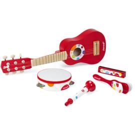 Janod Confetti - Muziekinstrumenten Set Rood