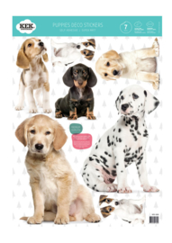 Kek Amsterdam Muursticker - Puppies (set van 7) (MS-308)