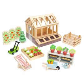 Tender Leaf Tuinkas met Moestuin - Greenhouse and Garden Set  +3j