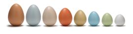 Yellow Door Sensory Eieren Rangschikken (8 stuks)  + 3jr