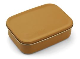 Liewood Lunchtrommel RVS Jimmy Lunchbox - Mr Bear Mustard (Extra groot)