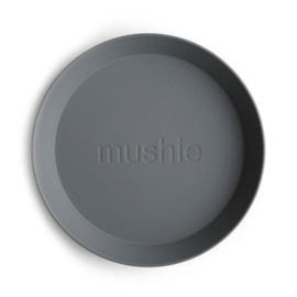Mushie Bord Rond (set van 2) - Smoke