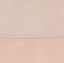 Jollein Ledikant Laken Snake - Pale Pink (120 x 150 cm)