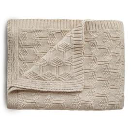 Mushie Deken Honeycomb Baby Blanket - Beige