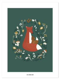 Lilipinso Forest Happiness Poster - Fox Family (30x40cm)