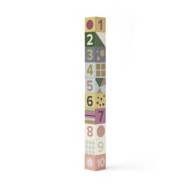 Kids Concept Houten Blokken Edvin - 1 tm 10