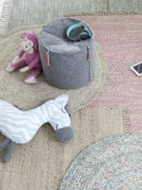 KidsDepot Vloerkleed Jute - Roze (90x180cm)