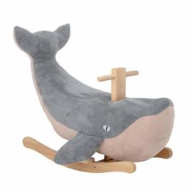Bloomingville hobbelpaard Moby the Whale - Blauw