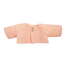 Olli Ella Dinkum Doll Single Cardigan - Rose