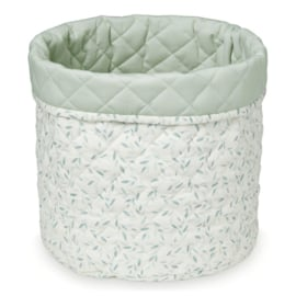 CamCam Quilted Opbergmand Medium - Green Leaves