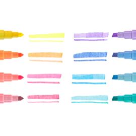 Ooly Stiften Dubbelzijdig Pastel Liners  - Set van 8 Pastel stiften
