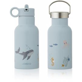 Liewood Anker Waterbottle Drinkfles - Sea Creature Mix (350ml)