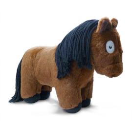 Crafty Pony Paarden Knuffel Bruin met Zwarte Manen (48 cm) incl. instructieboekje