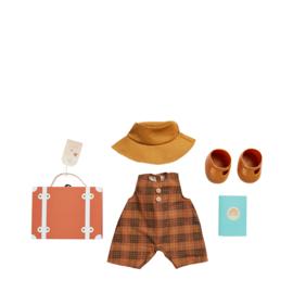 Olli Ella Dinkum Doll Travel Tog Set - Apricot