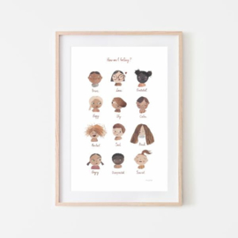 Mushie Poster Large - Feelings