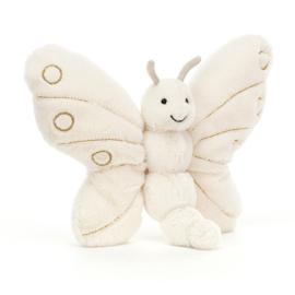 Jellycat Knuffel Vlinder - Glistening Winter Butterfly (22 cm)