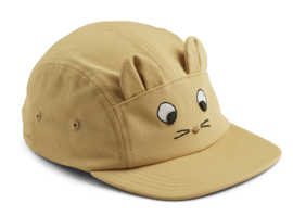 Liewood Pet Rory Cap - Mouse Wheat Yellow (5-8 jaar)