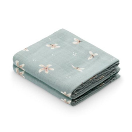 CamCam Hydrofiele Doek Muslin - Windflower Blue (set van 2)