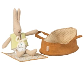 Maileg Micro Rabbit in Carrycot