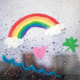 Ooly Raamkrijtjes Rainy Dayz - Set van 12