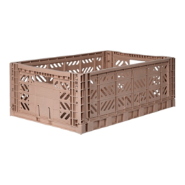 AyKasa Folding Crate Maxi Box - Warm Taupe