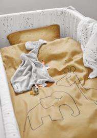 Done by Deer Ledikant Dekbedovertrek Dreamy Dots - Mustard
