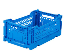 AyKasa Folding Crate Mini Box - Blue
