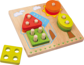 Small Foot Puzzel Activity House + 1jr