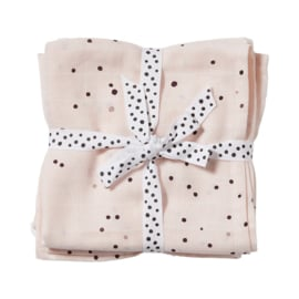 Done by Deer Hydrofiele doek XL Swaddle Dreamy Dots - Roze (set van 2)