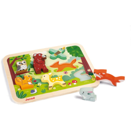 Janod Chunky Puzzel - Bos Dieren +1jr