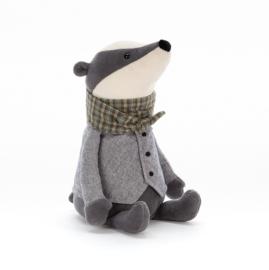 Jellycat Riverside Rambler Badger - Knuffel Das