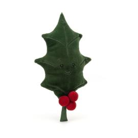 Jellycat Kerst Knuffel Hulstblad - Woodland Holly Leaf (35 cm)