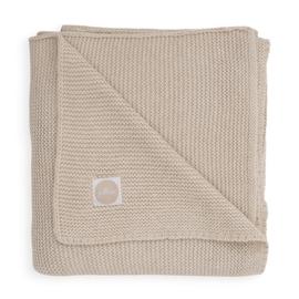 Jollein Gebreide Wiegdeken Basic Knit - Nougat (75 x 100 cm)