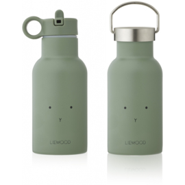 Liewood Anker Waterbottle Drinkfles - Rabbit Faune Green (350ml)