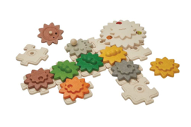 Plantoys Houten Puzzel - Gears and Puzzels