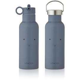Liewood Neo Waterbottle Drinkfles - Rabbit Blue Wave (500ml)