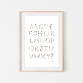 Mushie Poster Medium - Alfabet