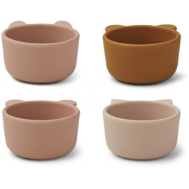 Liewood Malene Silicone Mini  Bowl Kommetjes - Rose Multi Mix (set van 4)