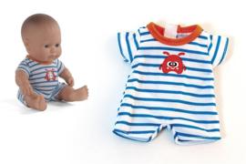 Miniland Pyjama blauw met strepen - (21 cm)