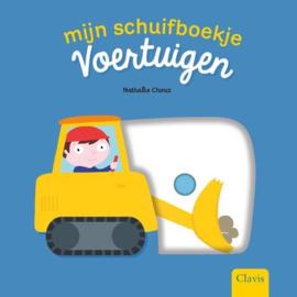 Uitgeverij Clavis Schuifboekje Voertuigen + 1jr