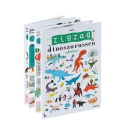 Uitgeverij Lannoo ZigZag - Dinosaurussen (2 meter breed!) +3jr