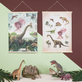 Schoolplaat Pimpelmees - Bij de Dino's (dubbelzijdig)