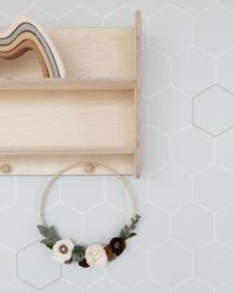 Bibelotte Behang Honinggraat - Zeegroen
