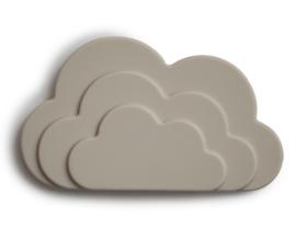 Mushie Bijtring Wolk Teether - Cloud Grey