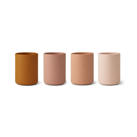 Liewood Drinkbekers Ethan Cup Siliconen Bekers - Cat Rose Multi Mix (set van 4)