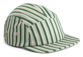 Liewood Pet Rory Cap - Stripe Garden Green Dove Blue (5-8 jaar)
