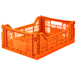 AyKasa Folding Crate Midi Box - Orange