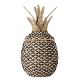 Bloomingville Opbergmand Ananas - Nature Black