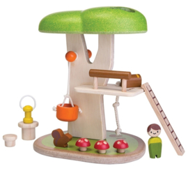 Plantoys Houten Speel Boomhut Set - Tree House