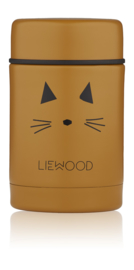 Liewood Nadja Food Jar - Cat Mustard